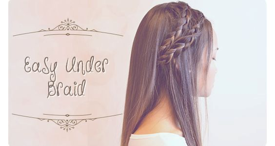 Summer Hairstyles: Easy Under Braid